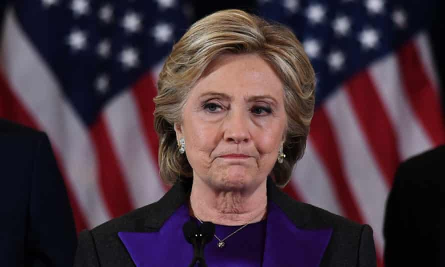 Hillary Clinton makes her concession speech in November 2016.