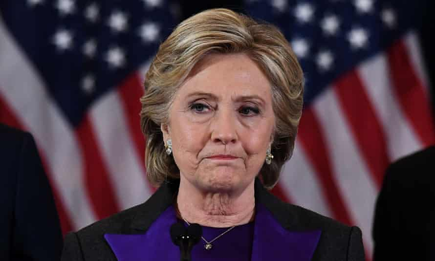 Hillary Clinton made her concession speech on 9 November after being defeated by Donald Trump.