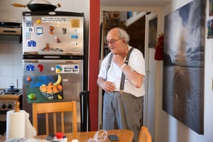 Veteran of the South African anti-apartheid struggle and member of the Rivonia 8, Denis Goldberg, photographed at his home in Hout Bay, Cape Town
