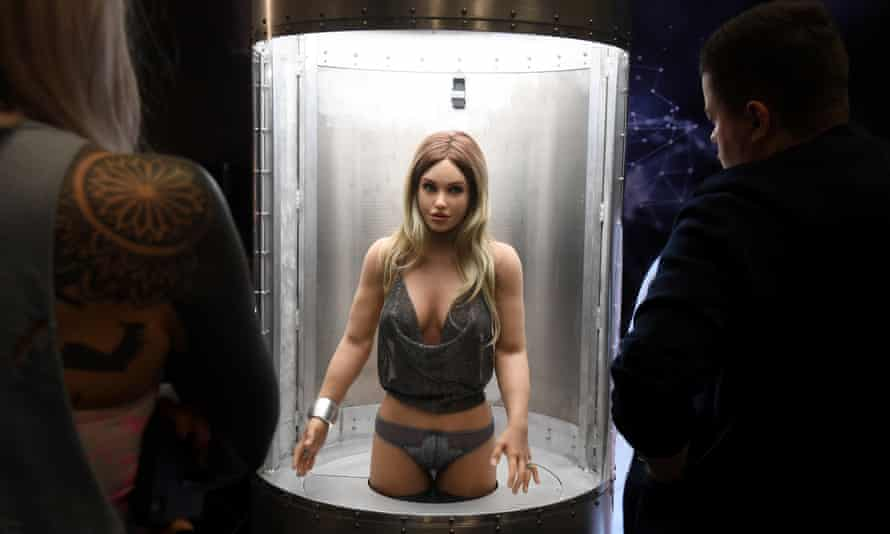 A Harmony sex robot made by Abyss Creations, on show at the 2020 AVN Adult Entertainment Expo, Las Vegas.