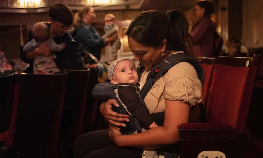 Susannah and baby Aden at the Vaudeville