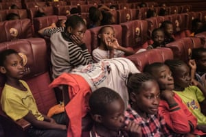 Children watching the dress rehearsal in the audience