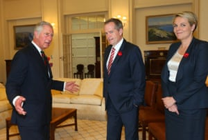 Evidently the meeting with the leader of the opposition, Bill Shorten, looks even more awkward than the one with the PM.