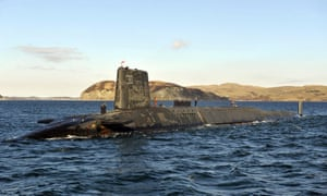 HMS Victorious, a Trident submarine, on patrol off the west coast of Scotland in 2013 before a visit by David Cameron.