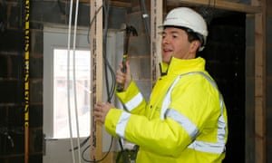 George Osborne visiting a Persimmon development in Cheshire when he was chancellor.