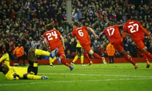 Lovren and his team-mates celebrate the fourth goal.