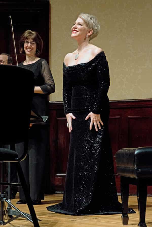 Joyce DiDonato, mezzo soprano, singing with the Brentano Quartet, Wigmore Hall, London, for New Review, 18/12/2017. Sophia Evans for The Observer