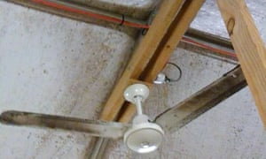 A photo showing mould in the tents at Nauru detention centre.