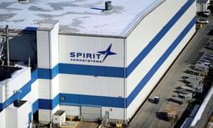 The headquarters of Spirit AeroSystems in Wichita.