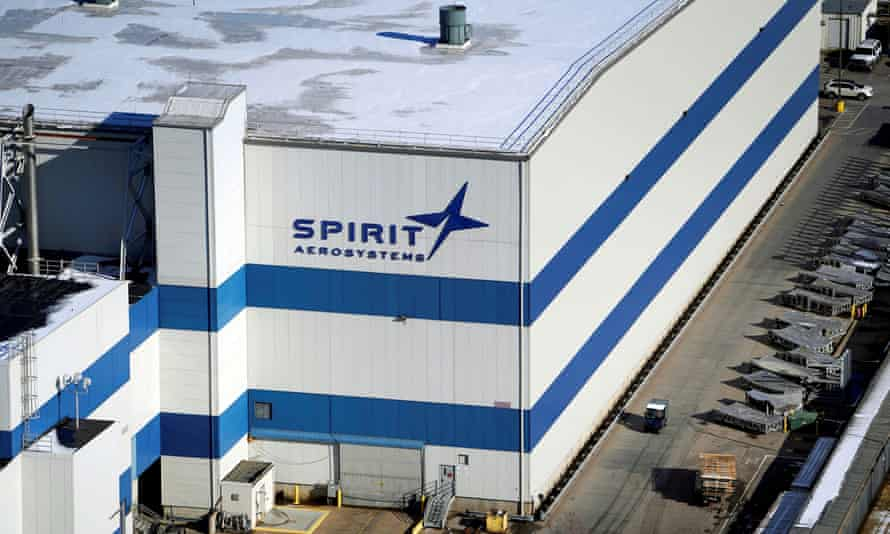 The headquarters of Spirit AeroSystems in Wichita.