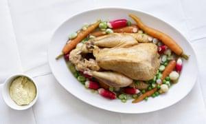 Guinea fowl, summer vegetables and aioli.