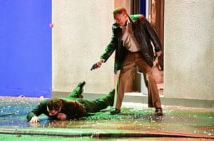 Robert De Niro gets rough in The Irishman.