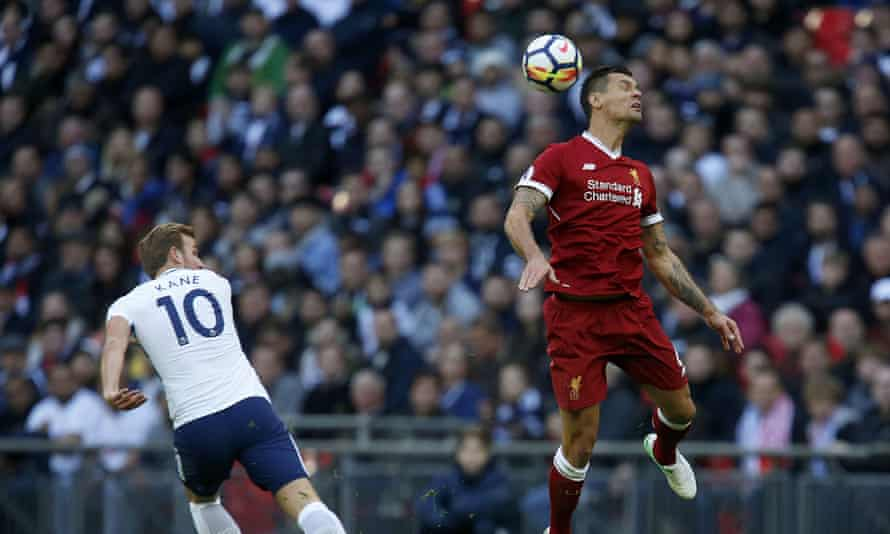 Dejan Lovren launched himself. The ball floated in a gentle parabola over halfway. Lovren floated in a gentle parabola under the ball and Harry Kane sped away.
