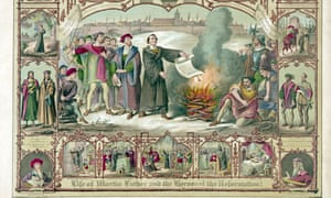Martin Luther's burning of the Papal Bull excommunicating him in 1520 led to five centuries of religious division in Europe.