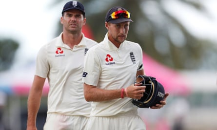 Joe Root (right) expects Jimmy Anderson to be among the wickets again before long as England's record Test wicket-taker nears the 600-mark.