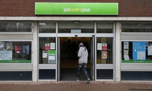 Young person going in to a jobcentre in Folkestone