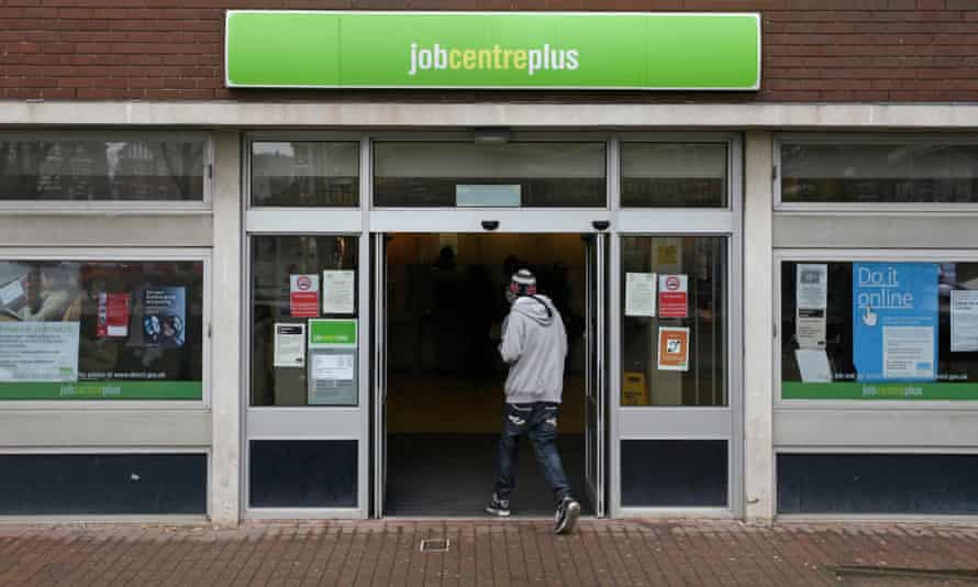 Young person walking into jobcentre