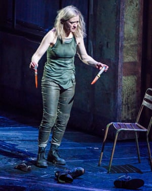 How does the historical context relate to the characterisation of Lady Macbeth … Anne-Marie Duff in Macbeth at the National.