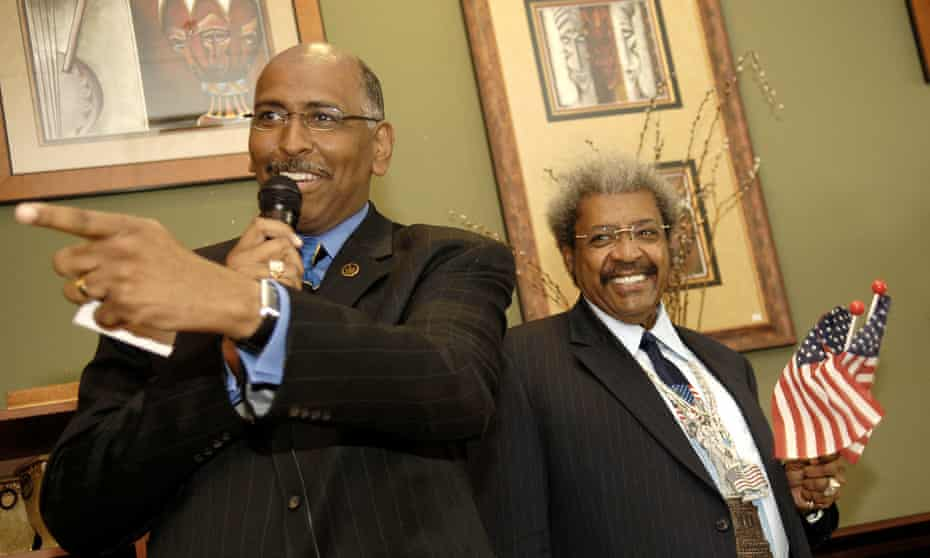 Michael Steele with the boxing promoter Don King in 2006. Steele's former brother-in-law is Mike Tyson – 'Mike's a cool guy.'