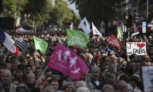 IVF protesters in Paris