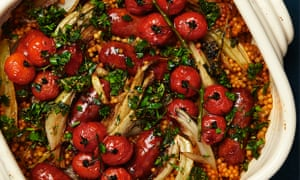 'Yotam Ottolenghi's chorizo and fennel bake with giant couscous and cherry tomatoes