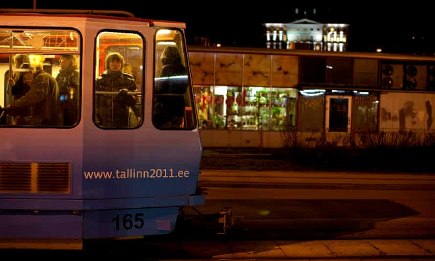A tram ride in Tallinn, Estonia.