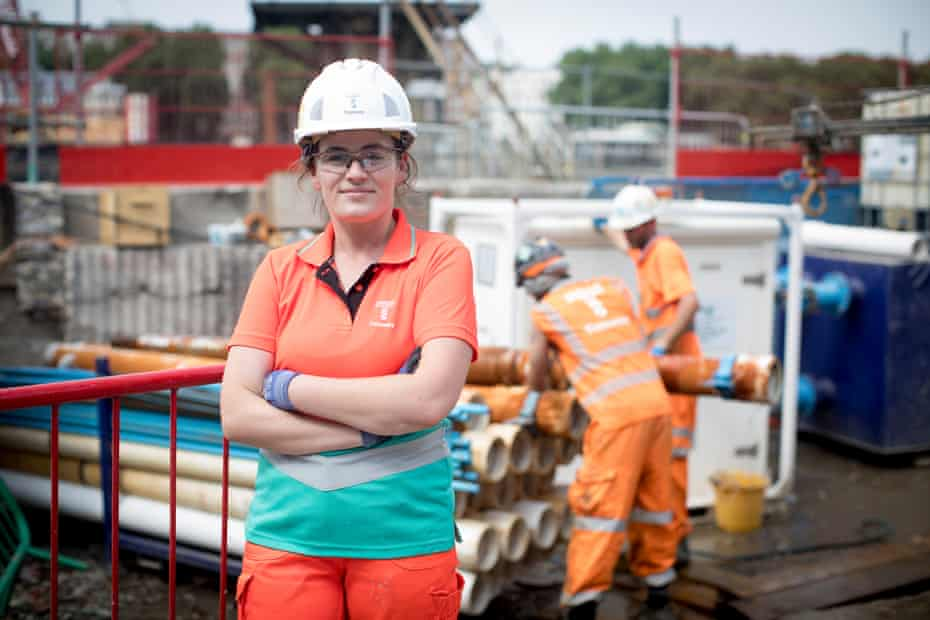Claire Kilrane, section engineer at Tideway's Heath Wall pumping station site.