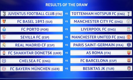 Champions League draw: Chelsea to face Barcelona in last 16