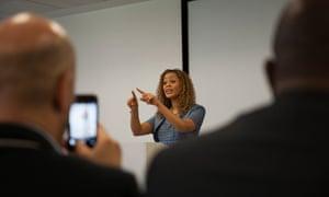 Miranda Brawn speaking at this year's Miranda Brawn Diversity Leadership Annual Lecture.