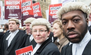 Maxine Peake joins barristers on a protest against cuts to legal aid in 2014.