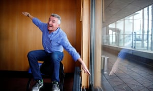 Ryanair Chief Executive Michael O'Leary poses for a picture after a news conference in Berlin, Germany,