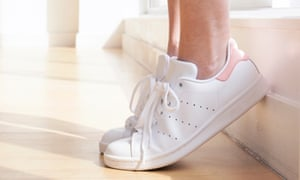 Simple exercises, such as raising your heel off the floor, can help with calf injuries.