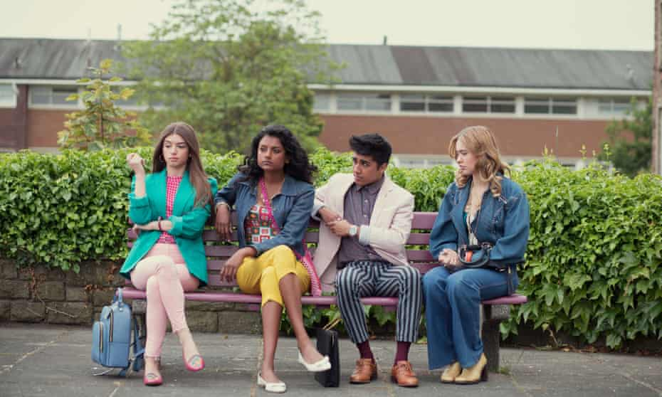 Sex Education, with Mimi Keene, Simone Ashley, Chaneil Kular and Aimee Lou Wood.