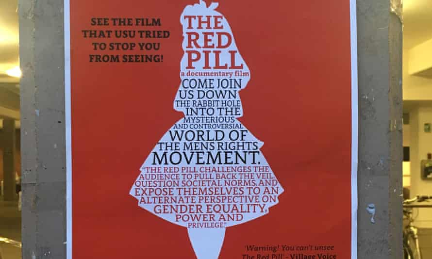 The Red Pill screening prompted protests on the Sydney University campus.