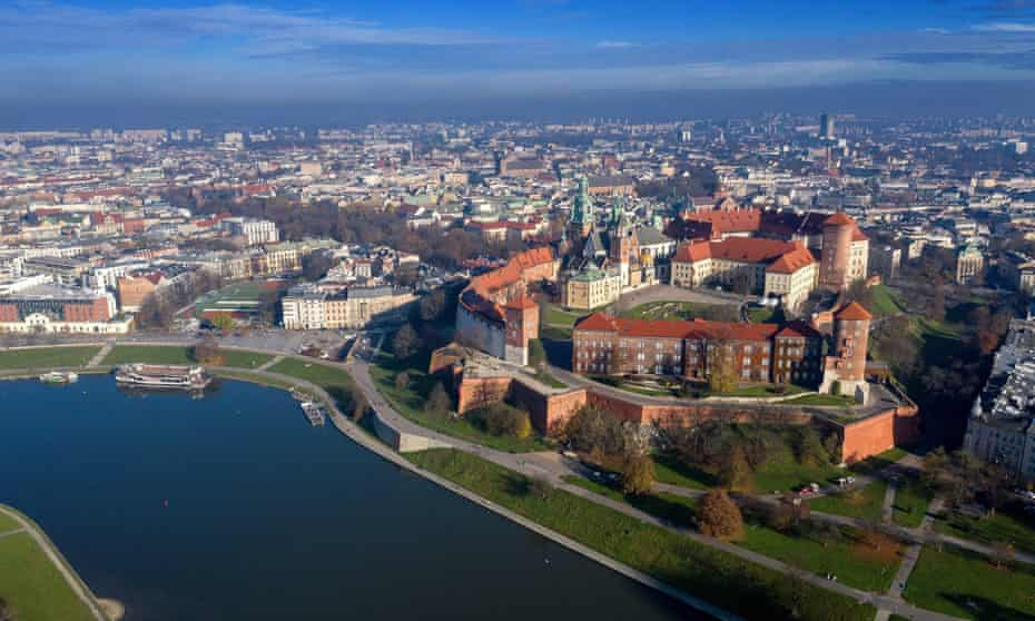 Wawel Royal Castle in Kraków, which gives its name to the Eurocity Wawel train.