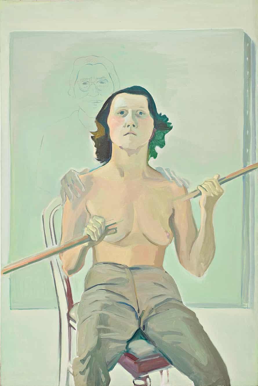 Self Portrait with Stick Maria Lassnig