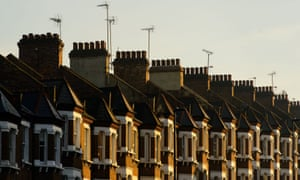 A row of houses in south London