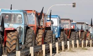 Farmers' protest.