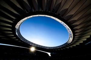 The Estadio Wanda Metropolitano stadium ahead of the UEFA Champions League Final