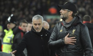 Jürgen Klopp saw off José Mourinho in his final match in charge of Manchester United last season.