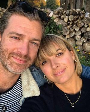 Clemmie Hooper with her partner Simon Hooper, also an Instagram influencer.