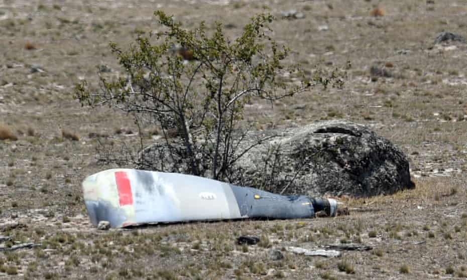 Wreckage of the C-130 waterbombing plane after the fatal crash in Peak View, New South Wales