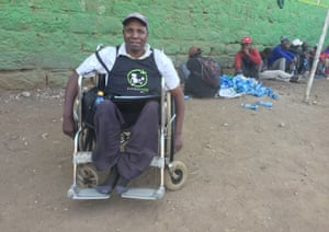 Johnson Kaunange, a wheelchair user in Kenya