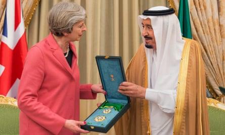 King Salman and Theresa May