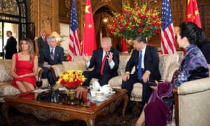 President Donald Trump and First Lady Melania Trump welcome Chinese President Xi Jinping and First Lady Peng Liyuan at Mar-a-Lago estate in Palm Beach, Florida.