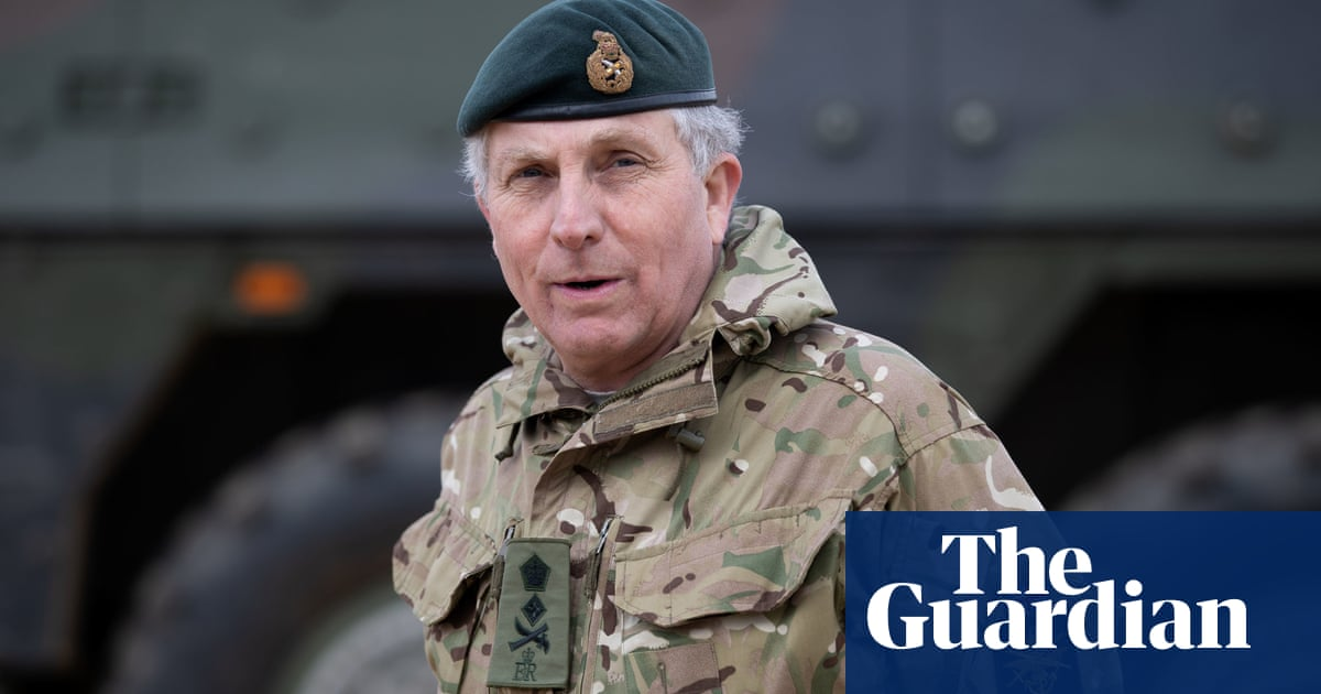 UK military chiefs self-isolate after head of army catches Covid