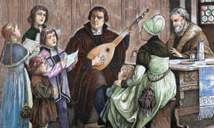 Martin Luther, pictured centre, thought music was the greatest gift from God.