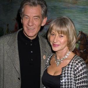 'He's a miracle to watch' … Helen Mirren with McKellen in New York.