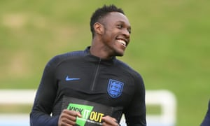 Danny Welbeck training with the England squad last year.