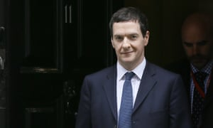 George Osborne leaving 11 Downing Street smiling with one half of his mouth